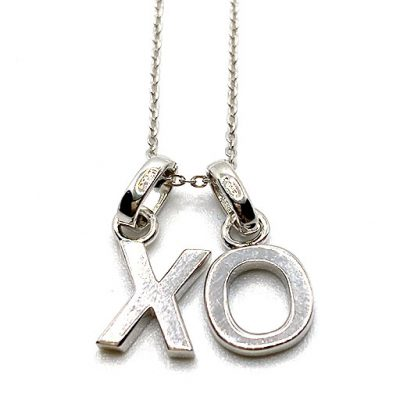 Hugs and Kisses Sterling Silver Necklace